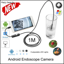 Hazy beauty 8mm Waterproof PC Android Endoscope Camera with 6mm 6LED Lens OTG Micro USB Endoscopy Borescope for PC Android Phone(China)