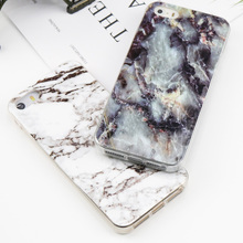 Luxury Marble Cases Soft TPU Slim Shell case for iphone X Cover Stylish Rubber For iPhone 6s 6 7 8 plus protection Phone Case(China)