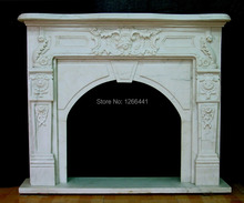 stone fireplace mantel surround special European style carved natural white marble(China)