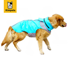 12 Size Dog Clothes Nylon Raincoat Light Clothes Waterproof Beautiful Small Or Big Dog Raincoat With Four Feet And Hidden Hood(China)