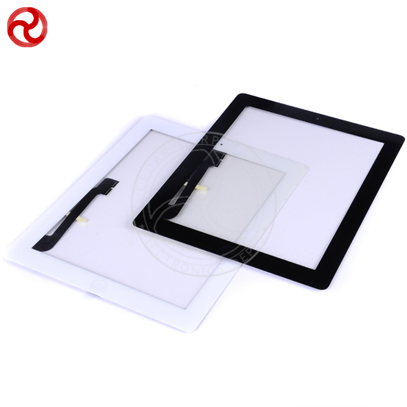10 Pcs/Lot For iPad 3 Touch Screen Digitizer With Home Button and 3M Sticker / For iPad 3 Front Glass Black / White via DHL<br><br>Aliexpress