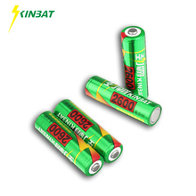 KINBAT 4pcs 2600mAh 1.2V AA Ni-MH Rechargeable Battery AA Pre-Charged NIMH Batteries Pack For Toys Microphone Remote Controls(China)