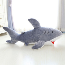 50cm giant shark plush shark whale stuffed fish ocean animals kawaii doll toys for children kids cartoon toy for gift