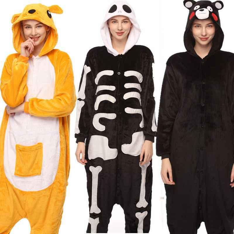 Animal Pajamas Unisex Adult Women Men Onesie Hoodie Sleepwear Panda Frog  Tiger Elephant Charmander Pijama Holiday 317bc4967