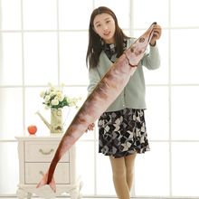 1 Pc 50cm Creative Cute Simulation Saury Shaped Plush Fish Pillow Soft Plush Toys Children Lovely Saury Kawaii Kids Gifts