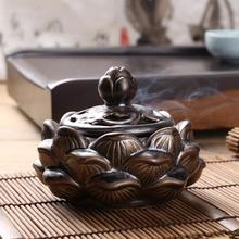 Antique copper ceramic incense burner Lotus flower modelling Incense coil tea fragrance There are things Sandalwood aloes