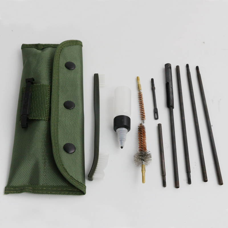 AR15 M16 Gun Rifle Cleaning Set 10 pcs Airsoft .30cal .,7.62mm Hunting Gun Cleaning Kit Set(China (Mainland))