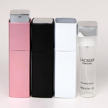 20ML High Quality Can Be Rotated Portable Aluminum Perfume Bottle With Atomizer Empty Parfum Case With Spray for Lady F20171809