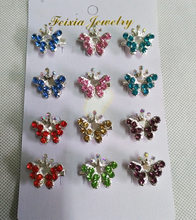 Brooch Muslim Hijab Brooches Butterfly Wholesale 12PCS Crystal Broche Muslim For Women Safety Scarf Pins Hijab Pins Mixed Color