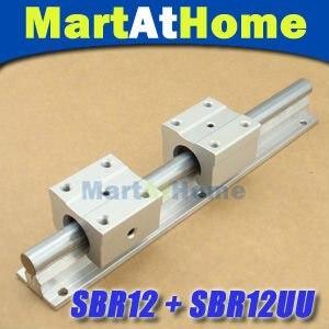 2pcs SBR12 200mm Linear Bearing Rails + 4pcs SBR12UU Linear Motion Bearing Blocks kit #SM188<br>