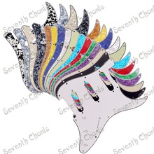 High Quality SSS 3 Ply 11 Holes ST FD Electric Guitar Pickguard Anti-Scratch Plate - Multicolor for choose