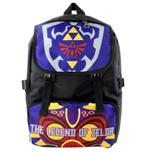 2016 Hot Sale Anime The Legend of Zelda Waterproof Laptop Purple Backpack/Double-Shoulder Bag/School Bag