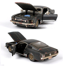 Toys car collections 1:24 Scale 1967 Ford Mustang GT black Diecast Model Car toy Car Kids Toys 1/24 car models children's gift