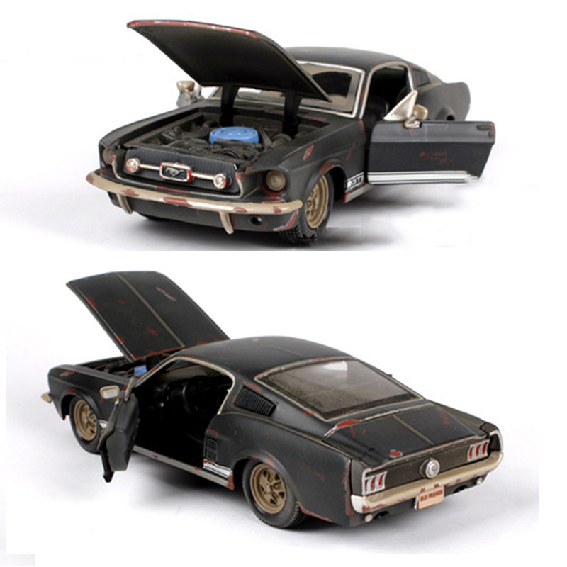toys car collections 124 scale 1967 ford mustang gt black diecast model car toy