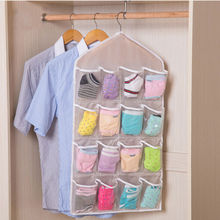 16 Pockets Clear Over Door Hanging Bag Shoe Rack Hanger Storage Tidy Organizer(China)
