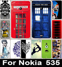 Telephone Booth Beijing Opera Face Soft TPU & Hard PC Phone Cases Back Cover Case For Microsoft Nokia Lumia 535 Phone Bags Skin