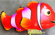 4pcs 3D Ne fish mo pvc balloons,ballon,birthday party decorations kids toys for children  free shipping Clownfish clown fish