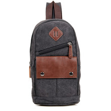 JMD Vintage Unique Design Multifunction Shoulders Canvas Backpack For Men's Small Sling Bag 9034
