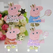 isnice Hair ornament Colorful headband Children Pig Hair Accessories Big Ponys Hair Clip Cartoon Kids Hairpins