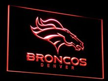 b067 Denver Broncos Bar Pub Logo LED Neon Sign with On/Off Switch 20+ Colors 5 Sizes to choose(China)