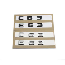 1set Car styling For Mercedes E63 C63 Emblem Rear Trunk Number Letter Badge Sticker For Benz E C Classic 4Matic