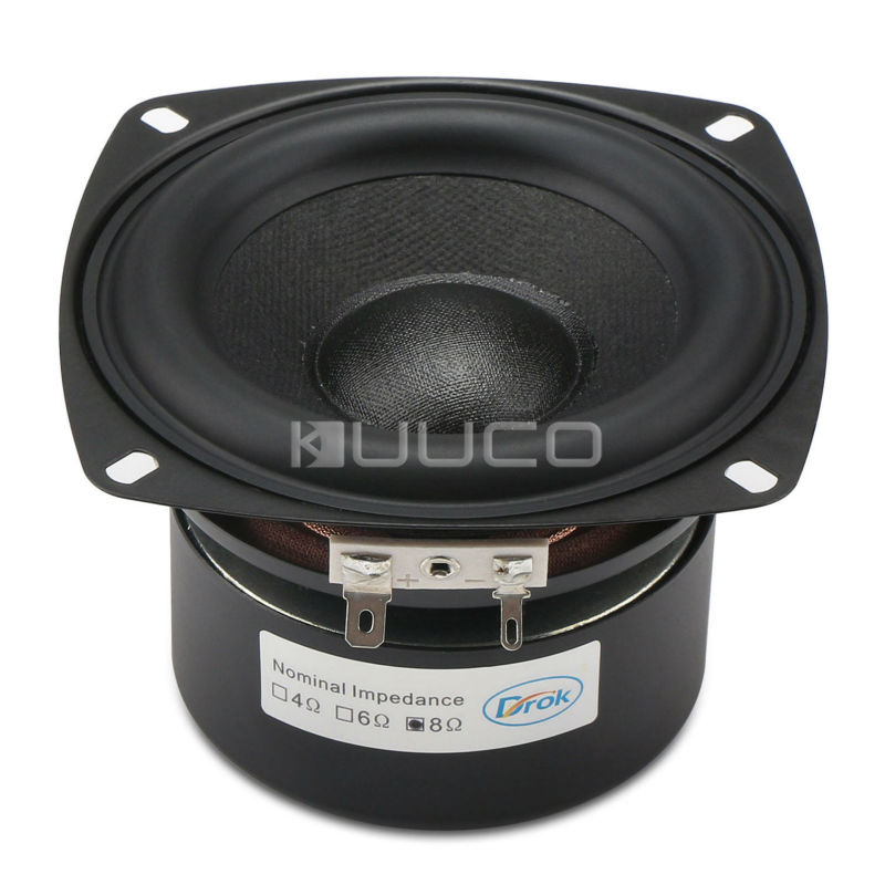 Stereo Loudspeaker 40W Woofer Audio Speaker 4-inch 8 ohms Subwoofer Bass Speaker Antimagnetic for Multimedia/PC/Home etc<br>