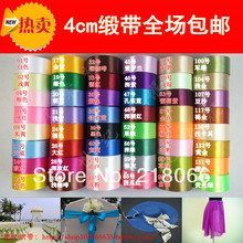 40mm Satin Ribbons Cake Packaging Wedding Decoration Diy Accessories(China)