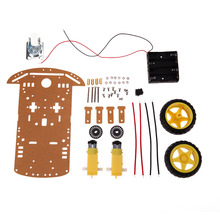 Motor Smart Robot Car Chassis Kit Speed Encoder Batterry Box 2WD Tracking Obstakel vermijden Intelligente Auto DIY Kit