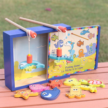 Baby Toys Boikido Wooden Magnetic Fishing Toy Set Fish Game Educational Fishing Toy Child Birthday/Christmas Gift