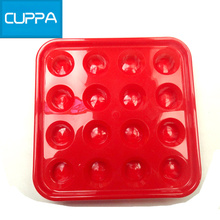 New Arrival Cuppa Pool Plastic 16 Holes Tray Billiard Table Ball Storage Holder Four Colors China