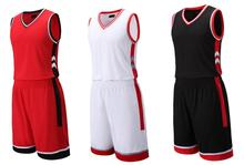 Throwback Men Sports Uniforms Sportswear Training Basketball Jersey and Shorts Sets