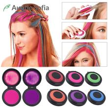 6 Color/set Temporary Hair Dye Washable Pro Salon One-time Hair Dye Color Paint Disposable Hair Rainbow Coloring Chalk Powder