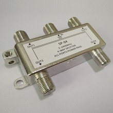 4 Way Satellite/Antenna/Cable TV Splitter Distributor 5-2400MHz F Type Wholesale(China)