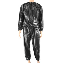 Fitness Waterproof PVC Heavy Duty Sauna Suit Sweat Clothes Gym Training Slimming Workout Weight Loss Sauna Clothes