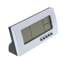 Digital Snooze LCD Alarm Clock Time Calendar Thermometer Temperature Desktop New