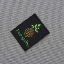 Personal brand cut  folded garment labels custom private woven labels and tags 1000pcs/lot