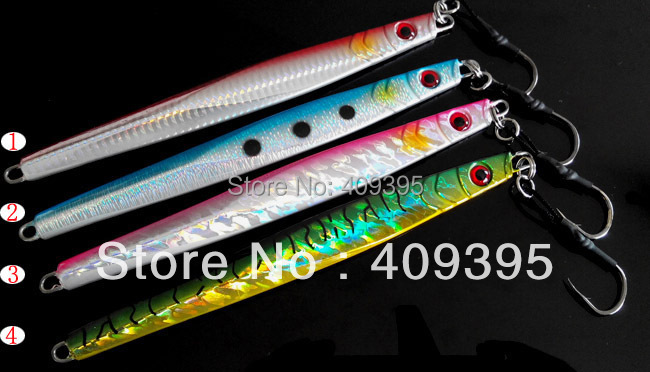 4pcs 200g/150g/100g lead fish lead jig knife jig Mixed  4 colors with seperate package free shipping<br><br>Aliexpress