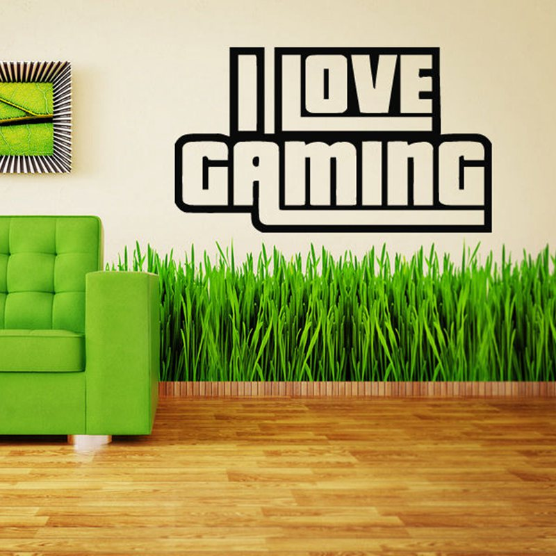 Video Game Sticker Play Decal Gaming Posters Gamer Vinyl Wall Decals Parede Decor Mural 19 Color Choose Video Game Sticker