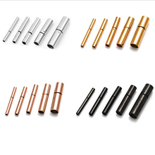 2pcs/lot Stainless Steel Clasps Gold/Silver/Rose Gold/Gun Black Hooks For Leather Diy Necklaces & Bracelets Jewelry Making F3464