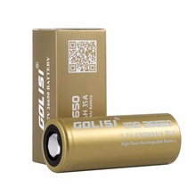 GOLISI S43 26650 Rechargeable Battery Li-ion 4300mAh 3.7V 35A High Drain Low Internal Resistance for LED Flashlights Headlamps(China)