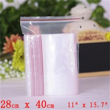 "Via DHL EMS SPSR 500 Pcs 11""x15.7"" Clear Plastic Bags 2Mil RECLOSABLE ZIP SEAL BAGGIES 28cmx40cm Zip lock Bag"
