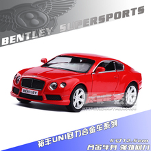 Free Shipping UNI-FORTUNE 1:36 Bentley continental Alloy model toys For Children Car Toys like the gift