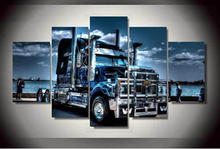 5 Panel Framed Printed truck Painting on canvas room decoration print poster picture canvas prints