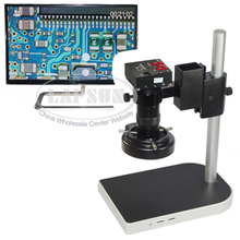 16MP 1080P Full HDMI HD 60F/S High Speed Video Indusry Lab Microscope Camera + 100X C-Mount Lens +Big Stand +144 LED Ring Light