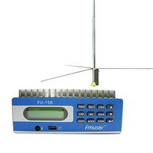 Contonmade Fmuser FU-15B transmitter fm radio station and GP200 1/2 Wave FM Radio antenna A KIT PC control(China)