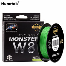 Nunatak New Braided Fishing Line Fishing Line 500M 8 Strands 0.16-0.50mm Super Strong Sea Fishing Wide Angle Technology 4 Colors(China)