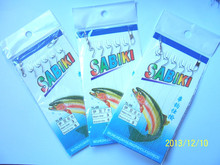 30-Packs Sabiki Bait Fishing Rigs 5 Hooks Size 6# 7# 8# Casting Fish Tackle whole sale price Peseca Wobblers Peche(China)