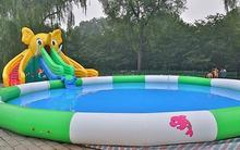 PVC large inflatable water slides inflatable water park water games with pool(China)