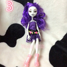 NO BOX Dolls Monster Draculaura/Clawdeen Wolf/ Frankie Stein Moveable Joint Body High Quality Girls Plastic Toys Gifts D22