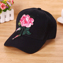 Women Fashion Baseball Cap Flower Embroidery Snapback Sun Hat Size Adjustable Baseball Cap Solid Color Baseball Cap Women New